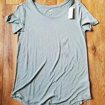 Womens Gap  Luxe Tshirt Sea Foam Green Short Sleeve Size Xs Nwt Photo