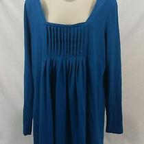 Women's Gap Maternity Size Large Long Sleeved Blue T Shirt Blue Photo