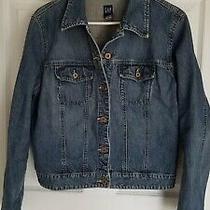 Women's Gap Medium Blue Blue Jean Denim Jacket Size Large L  Photo