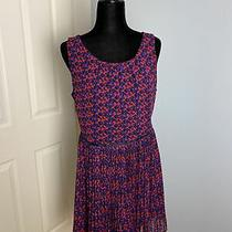 Womens Gap Multi Colored Sleevless Dress Blue Red Black Size 14 Large Photo