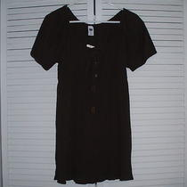 Women's Gap Short Sleeve Top/blouse Beautiful Cocoa Brown Size Large  Photo