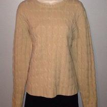 Women's Gap Tan Wool Cable Knit Sweater Size Xl Photo