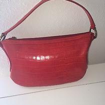 Women's Gianni Versace Red Croc Print Handbag Rare Photo