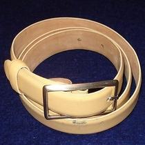 Women's Giorgio Armani Light Beige Genuine Leather Belt Size 46eu/u.s Size M... Photo