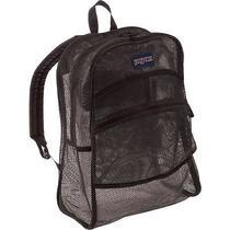 Women's Girls Jansport Black Mesh See Through Backpack School Bag Photo