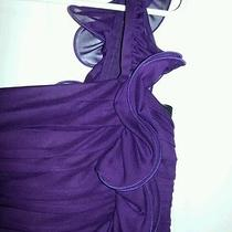 Women's Girls Juniors Prom Dress Gown Formal Purple One Shoulder Sz 4 Betsy Adam Photo