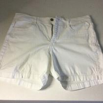Womens Gloria Vanderbilt Laurel Shorts White Denim Size 14 Super Cute Photo