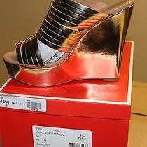 Women's Gold Coach Bristol Mirror Metallic Heel Photo