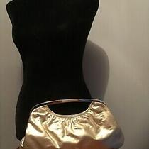 Women's Gold Metallic Express Design Studios Clutch Handbag Nwot Photo