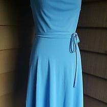 Women's Gorgeous Solid Blue Express Sun Dress Size 7/8 Medium Photo