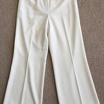 Women's Grace Elements Brand Ivory Flat Front Fully Lined Dress Pants-Size 8 Photo