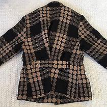 Women's Grace Elements Tan and Black 10% Wool Coat Size 8  Photo