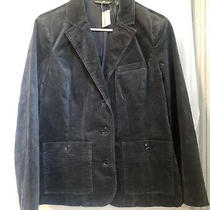 Womens Gray Velvet Blazer Jacket Eddie Bauer Brand Size 6 With Tags Photo