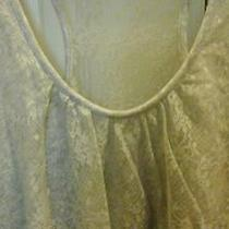 Women's  Grey Lace Express  Top Size M Photo