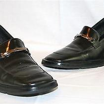 Women's Gucci Italy Black Loafer Pumps Heels Shoes 6.5 Like New Floor Model Photo