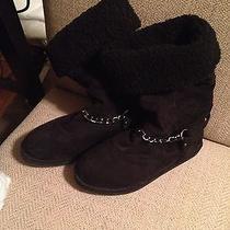 Women's Guess Black Snow Boots 7.5 Photo