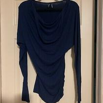 Womens Guess Dolman Top Long Sleeve Navy Blue Dress Size Small Photo