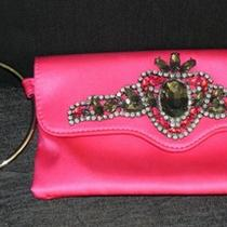 Women's Guess Evening Bag / Pink / Jeweled Front Photo