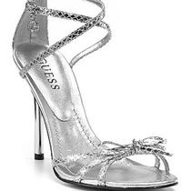 Women's Guess Hopeful Strappy Heels Sandal Shoe Silver Sz 10 New Photo