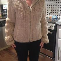 Women's Guess Jacket Genuine Rabbit Fur Photo