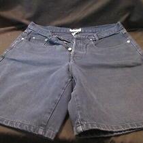 Women's Guess Jeans Denim Dark Blue Shorts Button Fly 37 Inch Waist Photo