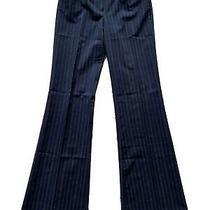 Women's Guess Jeans Dress Pants Black Pinstriped Size 26 Photo