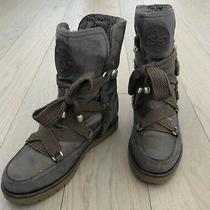 Womens Guess Winter Boots Metallic Golden Brown Size 6.5 Faux Fur Inside Photo