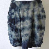 Women's Gypsy 05 100% Silk Tie Dye Mini Skirt Size Xs Blue Photo