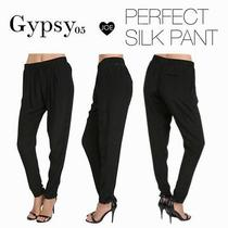 Womens Gypsy 05 Ursa Perfect Silk Pant Black Sz S 187 Nwt Photo