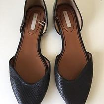 Women's h&m Black Leather Flats Size 39 (Us 7.5 8.0) Photo