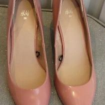 Women's h&m Blush Pink Champagne Size 39 Pointy Short Heels New Pastel Soft Sexy Photo