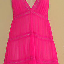 Women's H & M Hot Pink Babydoll Nightie Sz-12 Photo