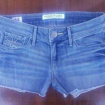 Women's Habitual Size 24 Geena  Cut Off Frayed Low Rise Denim Shorts Soft Euc Photo