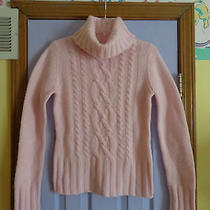 Women's Halogen Lambs Wool Blend Pink Sweater - Large - Never Worn Photo