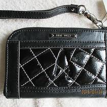 Women's Handbags & Purses Nine West Black Leather Wristlet Bag New With Tag Photo