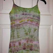 Women's Handmade Designer Tie-Dyed Tank Top Shirt Trendy Look Size L Pink Green Photo