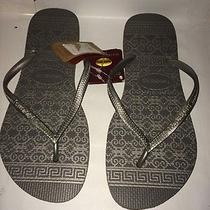 Women's Havaianas Slim Gray Ceramic Flip Flop Sz41/42 Photo