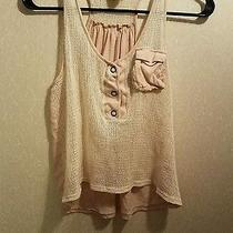 Women's High Low Loose Top Blush Pink Size Small Photo