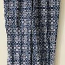 Women's Hippie Pants Soft Work Pants Comfy Gathered Ankle Blue & White Photo