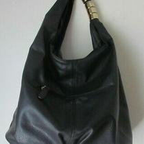 Women's Hobo Bag Medium Black Single Handle W/ Metal Rings Photo