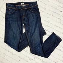 Women's Hudson Collin Mid Rise Skinny Jeans Flap Pocket Size 30 Darkwash Photo