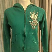 Women's Hurley Teal Full Zip Hoodie Sweatshirt Jacket Size Medium Photo
