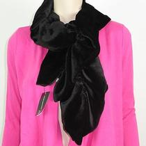 Women's Inc Black Velvet Loop Through Neck Scarf Nwt One Size Photo