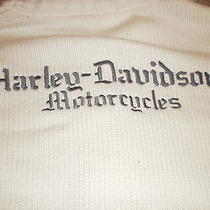 Women's Ivory Full Zip Harley Davidson Sweater Large Hd Motorcycles Photo
