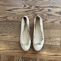 Womens J.crew Blush Ballet Flats W/gold Trim-Size 9 Photo