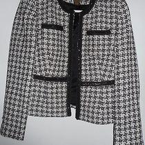 Women's Jacket Grace Elements Size 10p Black/white With Emblished Trim Photo