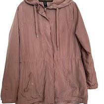 Womens Jacket Medium Blush Soft Fuzzy Liner Wind Breaker Rain Jacket Photo