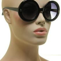 Women's Jackie O Sunglasses Round Oversized Xl Black Frame Super Retro Vintage Photo