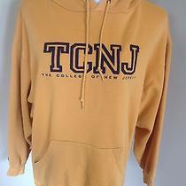 Women's Jansport Sweatshirt Hoodie College of New Jersey Gold Medium F88 Photo