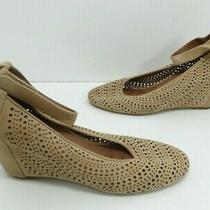 Women's Jeffrey Campbell Cirque Ankle Strap Wedge Sandal Taupe Size 8.5 M Photo
